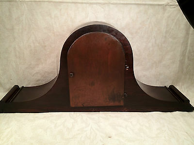 Antique Ingraham Mantel Clock Mahogany Case Runs and Strikes 5