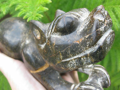 Asian carved stone feline figurine, 20 cm, 1.7 kg