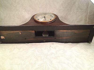 Antique Ingraham Mantel Clock Mahogany Case Runs and Strikes 12