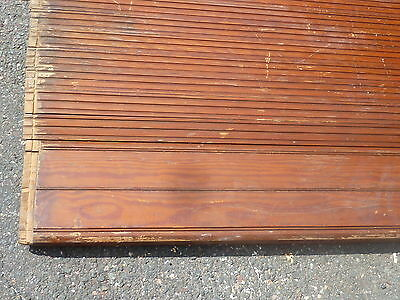 "c1900 ROLLING wooden TAMBOUR style door units 81"" long x 72"" wide w/HARDWARE 4"