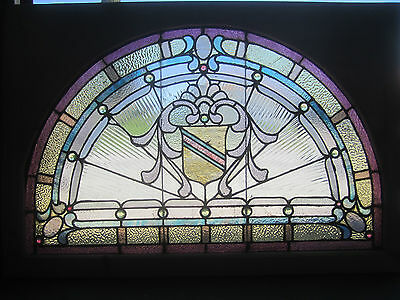 ~ Antique American Stained Glass Window ~ 17 Jewels ~ Architectural Salvage ~ 6