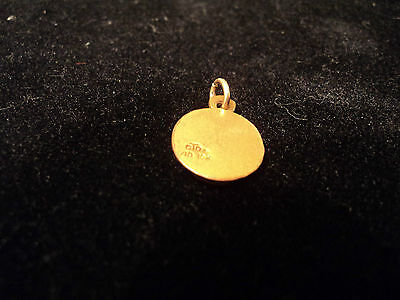 Vintage 1/10 10K Yellow Gold Cto Bell Telephone Company Charm Pendant 4