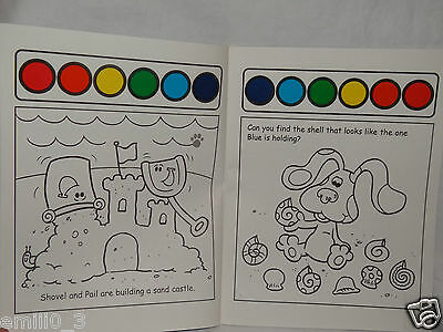 NEW BLUES Clues Paint And Water Coloring Book A Day At The Beach ...