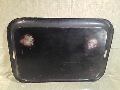 Vintage Reproduction Black and Gold Painted Japanese Tray Hiliu W B J... noff 10