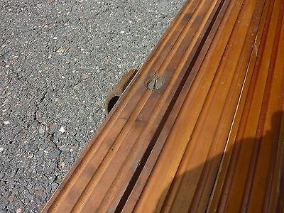"c1900 ROLLING wooden TAMBOUR style door units 81"" long x 72"" wide w/HARDWARE"
