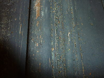 """c1860 BLUE/GRAY fascia PANELED board GREAT for project OR sign - 9'1""""L x 16.5"""" 5"""