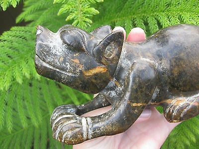 Asian carved stone feline figurine, 20 cm, 1.7 kg 3