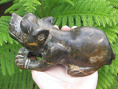 Asian carved stone feline figurine, 20 cm, 1.7 kg 8