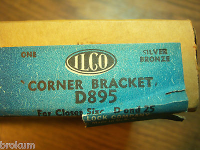 Vintage Nos Hardware Independant Lock Door Closer D895 Size D&25 Corner Bracket 4