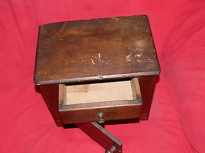 ANTIQUE 19th C. CHILD's TOY DOLL SIZED PINE WOOD WASH STAND COMMODE CABINET 3