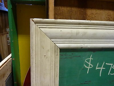 "early 20th century schoolhouse SLATE chalkboard FRAMED pine molding 57 x 45"" 7"