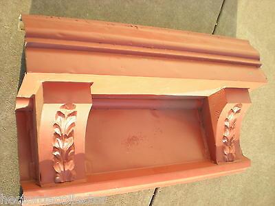 SALE Antique 1800s Metal Crown Molding Gable Pediment Fire Place Mantle Chic 2