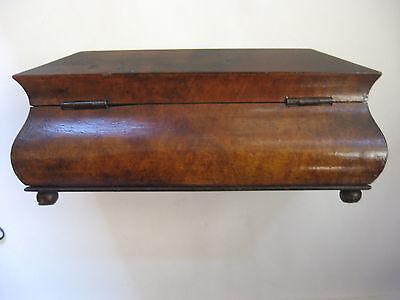 Rare Antique Civil War / Empire Period Jewelry Document Box-Gutta Percha-Burl 5 • £764.15