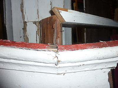 c1870 - NY state - C@@L Victorian architectural window header pediment 70 x 15""