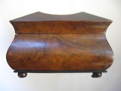 Rare Antique Civil War / Empire Period Jewelry Document Box-Gutta Percha-Burl 11 • £764.15