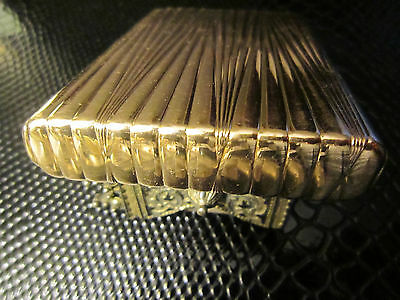Amazing heavy antique imperial Russian gold (56) cigarette case with cabochon! 6