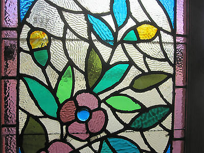 ~ Gorgeous Antique American Stained Glass Windows Floral ~ Architectural Salvage 3