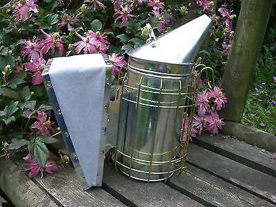 Large stainless steel smoker hive tool, and bee brush 6 • EUR 21,83
