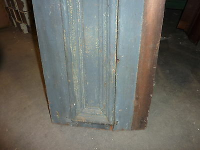 "c1860 BLUE/GRAY fascia PANELED board GREAT for project OR sign - 9'1""L x 16.5"" 6"