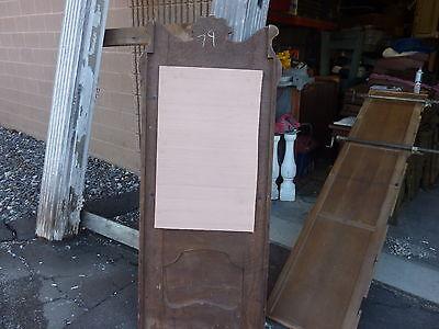 "QUARTERSAWN oak hall mirror frame REPURPOSED w/slate chalkboard insert 67 x 29"" 10"