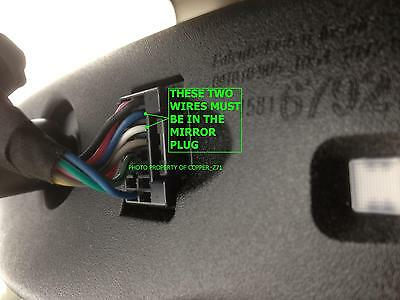 NEW Backup Camera Rearview Mirror Wiring Adapter For 2009 ...
