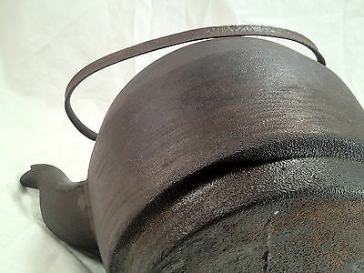 Antique Cast Iron Leibrandt Dowell Kettle Teapot with Handle  Made Philadel PA 7