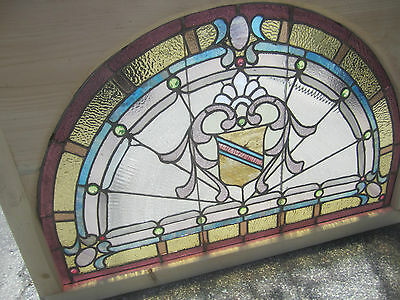 ~ Antique American Stained Glass Window ~ 17 Jewels ~ Architectural Salvage ~ 8