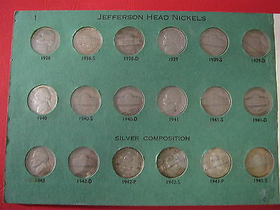 GREAT Lot of Seventy (70) Different Jefferson Nickels, ALL better dates/grades