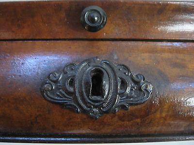 Rare Antique Civil War / Empire Period Jewelry Document Box-Gutta Percha-Burl 2