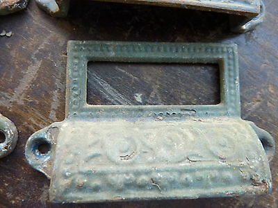 """c1880 LOT 10 matching authentic VICTORIAN cabinet pull hardware 2 7/8"""" on holes 5"""