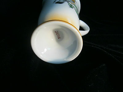 Set 4 Decorative Footed Mugs With Bird Motif - Made In Japan 6