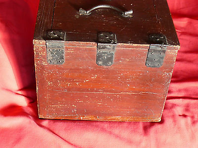 1615-1868 Japanese EDO Period TANSO CALLIGRAPHER's DESK CHEST w Lid & 3 Drawers 7