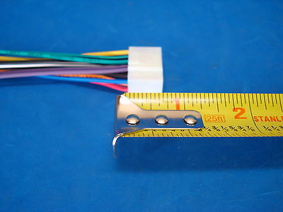 boss planet audio 16 pin radio wire harness stereo power plug back white 5 5 of 9 boss planet audio 16 pin radio wire harness stereo power plug back clip white