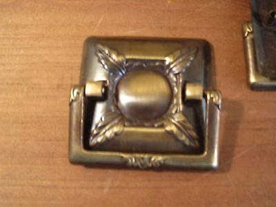 Set of SIX Midcentury Drawer Handles Brass Finish Architectural Design Element 3