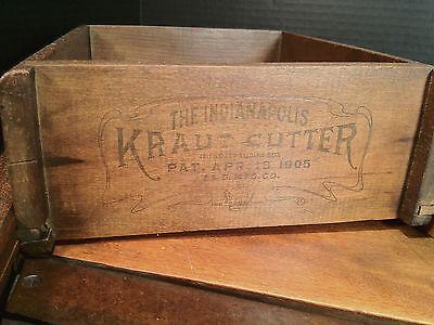 "Antique ""The Indianapolis Kraut Cutter"", Patented April 18, 1905, T.E.D Mfg. Co."