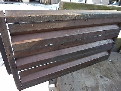 """salvaged ANTIQUE WOODEN warehouse factory box tray GREAT decor storage 27 X 14"""" 5"""