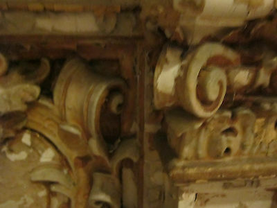 19th c Ornate Plaster Architectural Element from Philadelphia gold micromosaic 11