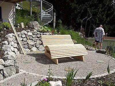 relaxliege wellnessliege holzliege gartenm bel entspannung wohlf hlliege eur 429 00. Black Bedroom Furniture Sets. Home Design Ideas