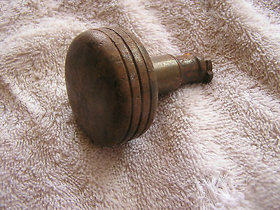 Antique Metal Door Knob with Stripes on the side 2