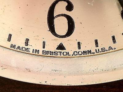 Antique Ingraham Mantel Clock Mahogany Case Runs and Strikes 3
