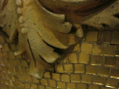 19th c Ornate Plaster Architectural Element from Philadelphia gold micromosaic 7