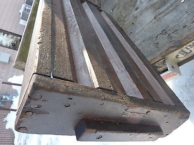"salvaged ANTIQUE WOODEN warehouse factory box tray GREAT decor storage 27 X 14"" 8"
