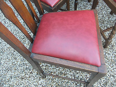 LARGE COLLECTION OF OAK 1920s DINING CHAIRS- IDEAL FOR PUBS, RESTAURANTS ETC 4
