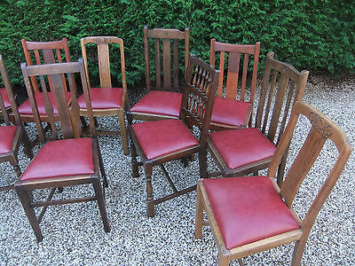 LARGE COLLECTION OF OAK 1920s DINING CHAIRS- IDEAL FOR PUBS, RESTAURANTS ETC 2