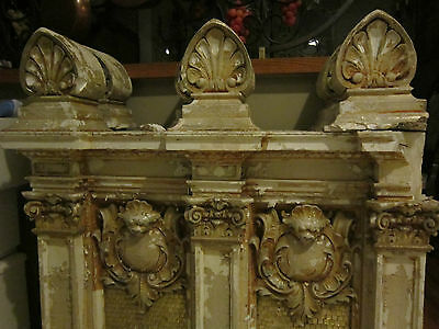 19th c Ornate Plaster Architectural Element from Philadelphia gold micromosaic 2