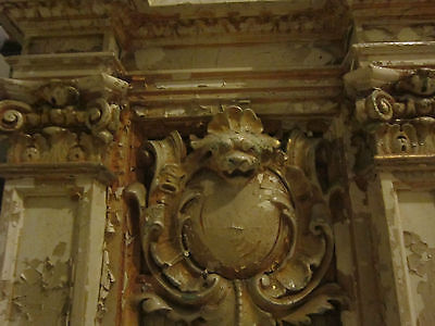 19th c Ornate Plaster Architectural Element from Philadelphia gold micromosaic 5
