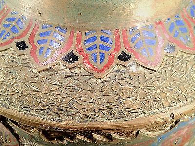 Antique Japanese Bronze Champleve Enamel Vase 3