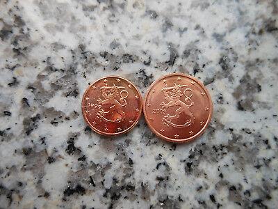 1 + 2  Euro Cent Münzen Münze Euromünzen Finnland Neu aus Rolle Finland Suomi 2