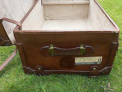 1920s Leather Steamer Trunk 3