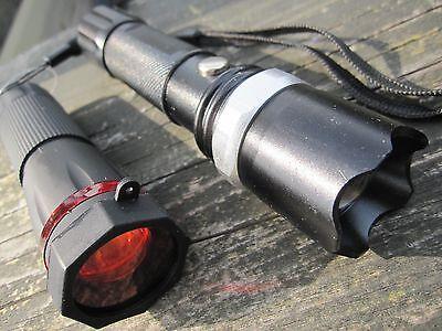 2 x CREE ZOOM Led Focus Taktische Taschenlampe Farbaufsatz Rotlicht